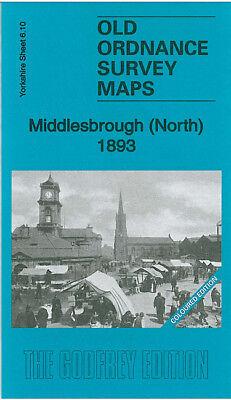 OLD ORDNANCE SURVEY MAP MIDDLESBROUGH NORTH 1893 ZETLAND STREET PORT CLARENCE
