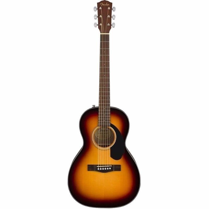 Fender CP-60S Sunburst Acoustic Parlor Guitar, Walnut Fingerboard  0970120032