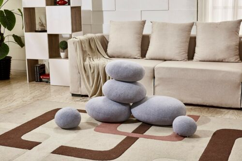 1-6# 6PCS LIVING STONES SHAPE PILLOW CASES//SHELL( WITHOUT STUFFING A SET OF