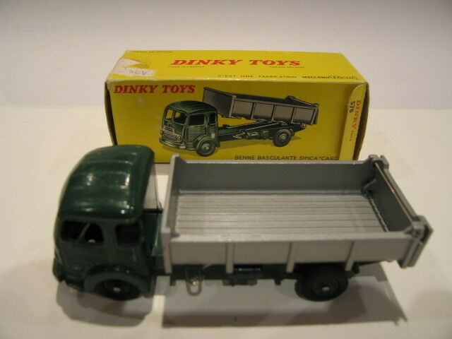DINKY TOYS FRANCE 578 SIMCA CARGO BENNE ROUES CONCAVES