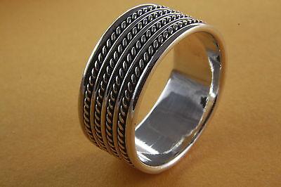 Herzhaft Bandring Celtic Tribal Biker 925 Silber Ring / 253
