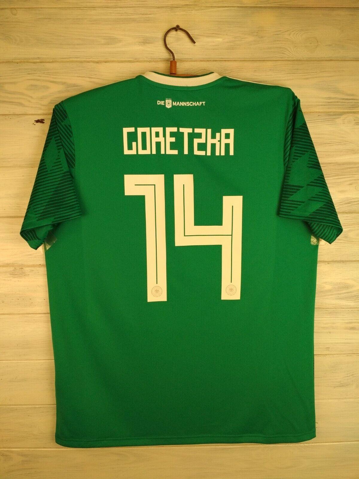 Goretzka Germany soccer jersey large 2019 away shirt BR3144 football Adidas