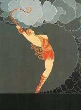 "ORIGINALE VINTAGE Erte Art Deco Print ""La Ballerina"" FASHION BOOK Piastra"