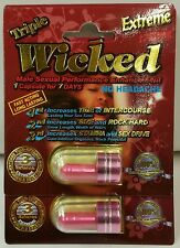 Triple WICKED Extreme! Premier Male Enhancement Pill! 2 Cap DEAL! 100% Authentic