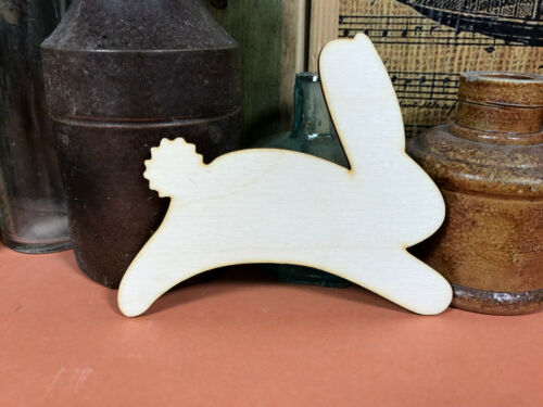 RABBIT SHAPES JUMPING WOODEN Multiple Sizes Wood Shape Bunny Hare 2.5cm to 25cm