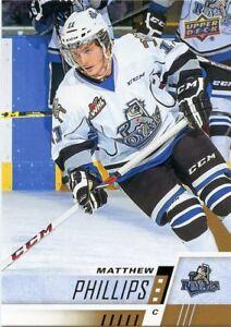 17/18 UPPER DECK CHL #108 MATTHEW PHILLIPS VICTORIA ROYALS *48644 Verzamelkaarten, ruilkaarten IJshockey