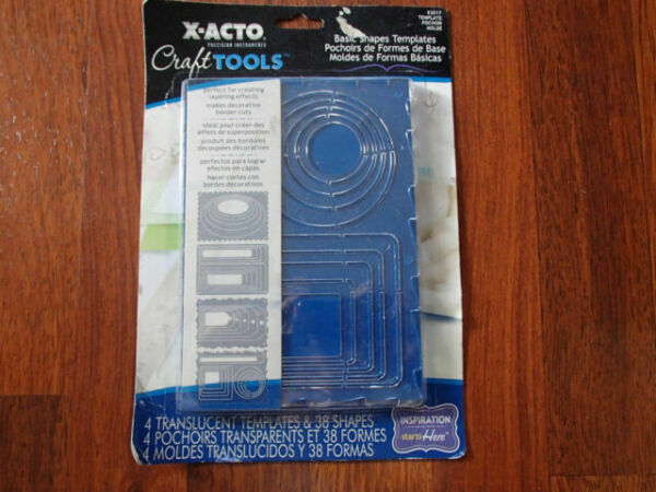 X-Acto Craft Tools Basic Shapes Includes 4 Templates 38 Shapes