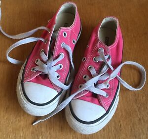 Kids Pink Converse Shoes Size 10/ Euro
