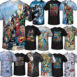Men marvel dc comic book tee t shirt short sleeve justice for Comic t shirts online