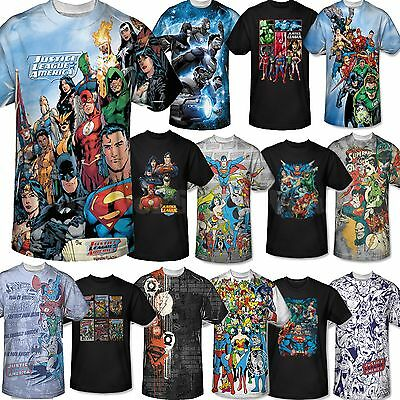 Men Marvel DC Comic Book Tee T-Shirt Short Sleeve Justice League Superman Batman