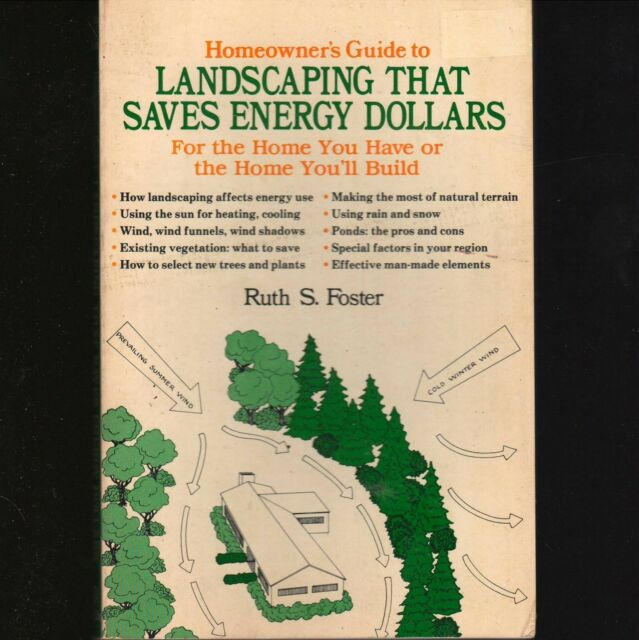 Homeowner's Guide LANDSCAPING SAVES ENERGY DOLLARS Ruth S Foster 1978 Lg PB ᵐ H1