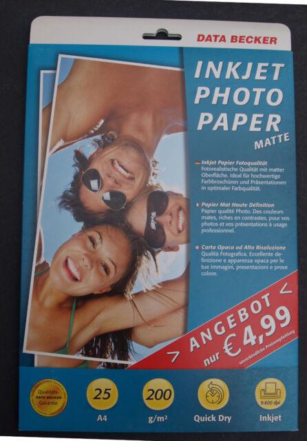 Data Becker Photo Paper Matte 200gr dina-4 25 Sheet Inkjet