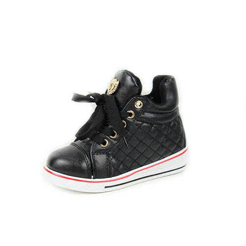 GIRLS BOYS KIDS LACE UP LOW WEDGE HEEL HI TOP PUMPS SHOES TRAINERS BOOTS SIZE 7