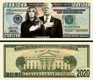 Donald Trump 2020 Re-Elect Presidential Novelty Dollar Bill Legacy Pack of 25