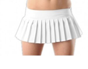 2e093c56925eac Image is loading SEXY-PLEATED-MICRO-MINI-SKIRT-IN-WHITE-COLOUR