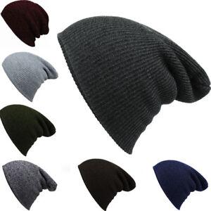 abd6251686e Fashion Men Women Baggy Knit Crochet Beanie Hat Warm Winter Wool ...