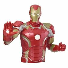 Marvel Superhero Incredible Ironman Bust Bank Piggy 3D Toy Figure Coin Bank