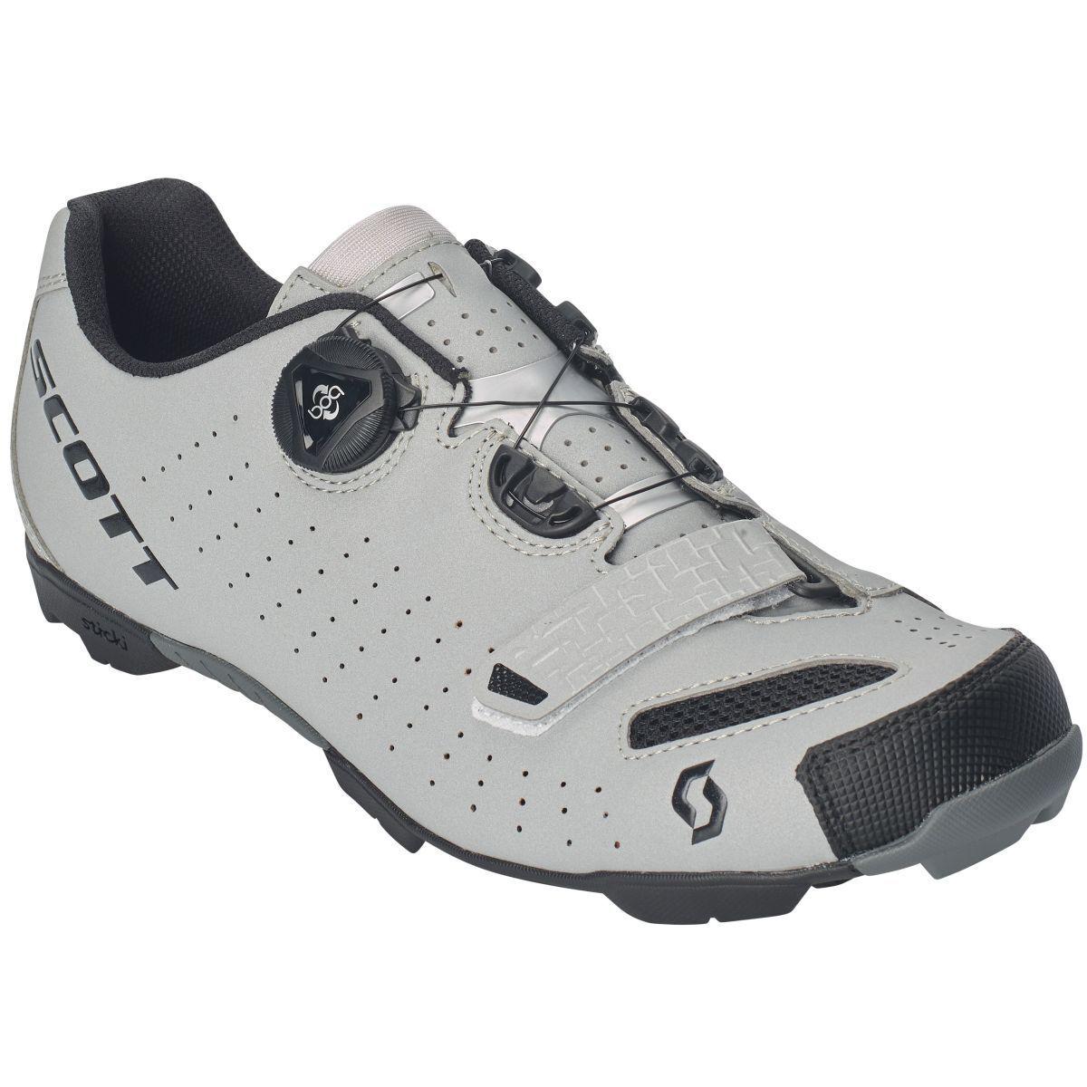 Bicicleta MTB Scott comp BOA mujer zapatos reflectante gris negro 2019