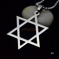 Star Of David Gold Silver Plated Crystal Necklace Pendant Jewish Men Women's