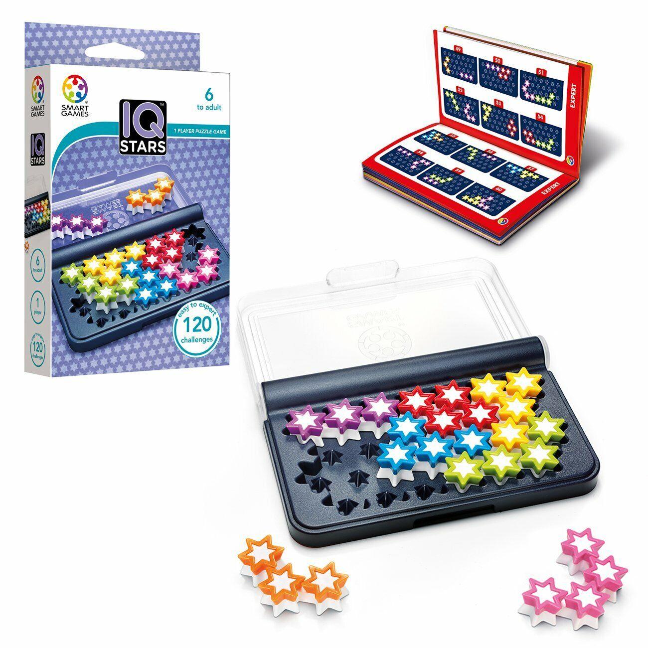 Smart Games IQ Stars Logic Educational Travel Game Toy Kids Brain Teaser 6