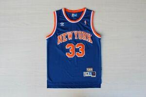 Patrick Ewing New York Knicks #33 NBA Basketball Blue Swingman Jersey S XXL