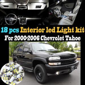 18pcs 6000k White Interior Led Light Bulb Kit Package For