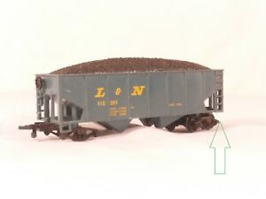 HO-Scale-Life-Like-Trains-2-Bay-Open-Hopper-With-Load-L-amp-N-115391