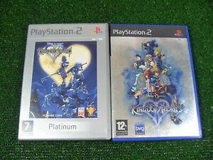 2-X-Playstation-2-Spiele-034-Kingdom-Hearts-I-amp-II-034-komplett-mit-Anleitungen-SONY-ps2