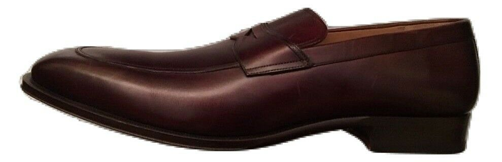 Magnanni Brown All Leather Yuko Loafers 16 D New Made In Spain 14311