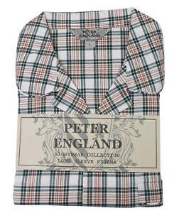 Open Pigiama di caldo England Check Green manico con Peter 6U16H