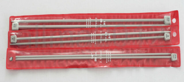 Stricknadel- Jackenstricknadeln 2,5mm -3,5mm - 35 cm Lang, Aluminium