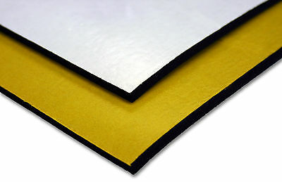 ADHESIVE BACKED BLACK NEOPRENE SPONGE/FOAM RUBBER SHEET 1.5mm - 12mm THICK