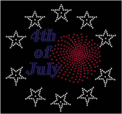 4th of July Patriotic Rhinestone Women/'s Long Sleeve Shirts