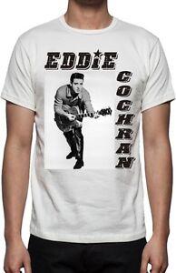 Eddie-Cochran-T-SHIRT-Rock-039-N-039-ROLL-ICONA-foto-immagine-vari-colori-amp-TAGLIE