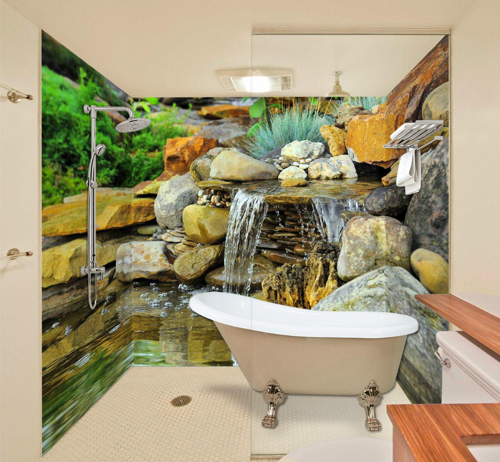 3D Stones Stream 071 WallPaper Bathroom Print Decal Wall Deco AJ WALLPAPER CA