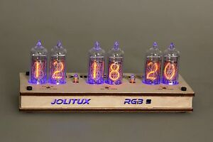Details about JOLITUX RGB Nixie Clock IN-14 russian Tubes Tube Clock with  remote control led