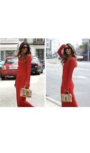 ZARA-NEW-SS18-RED-OPEN-LONG-KNIT-LONG-MAXI-DRESS-SIZE-M-BNWT