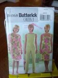 Oop-Butterick-Chetta-B-4068-misses-jacket-dress-top-pants-sz-6-10-NEW