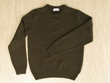 Ami Brown Sweater Men's Size Large Long Sleeve Crewneck Shirt Wool Alpaca Blend