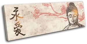 Buddha-Buddhism-Illustration-Religion-SINGLE-CANVAS-WALL-ART-Picture-Print