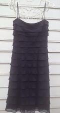 NWT!!! TADASHI Frilly Ruffles Little Black Dress Sz 4