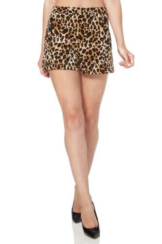 VOODOO VIXEN Vintage Retro Rockabilly Summer Cilla Leopard Print Shorts SRA3419.