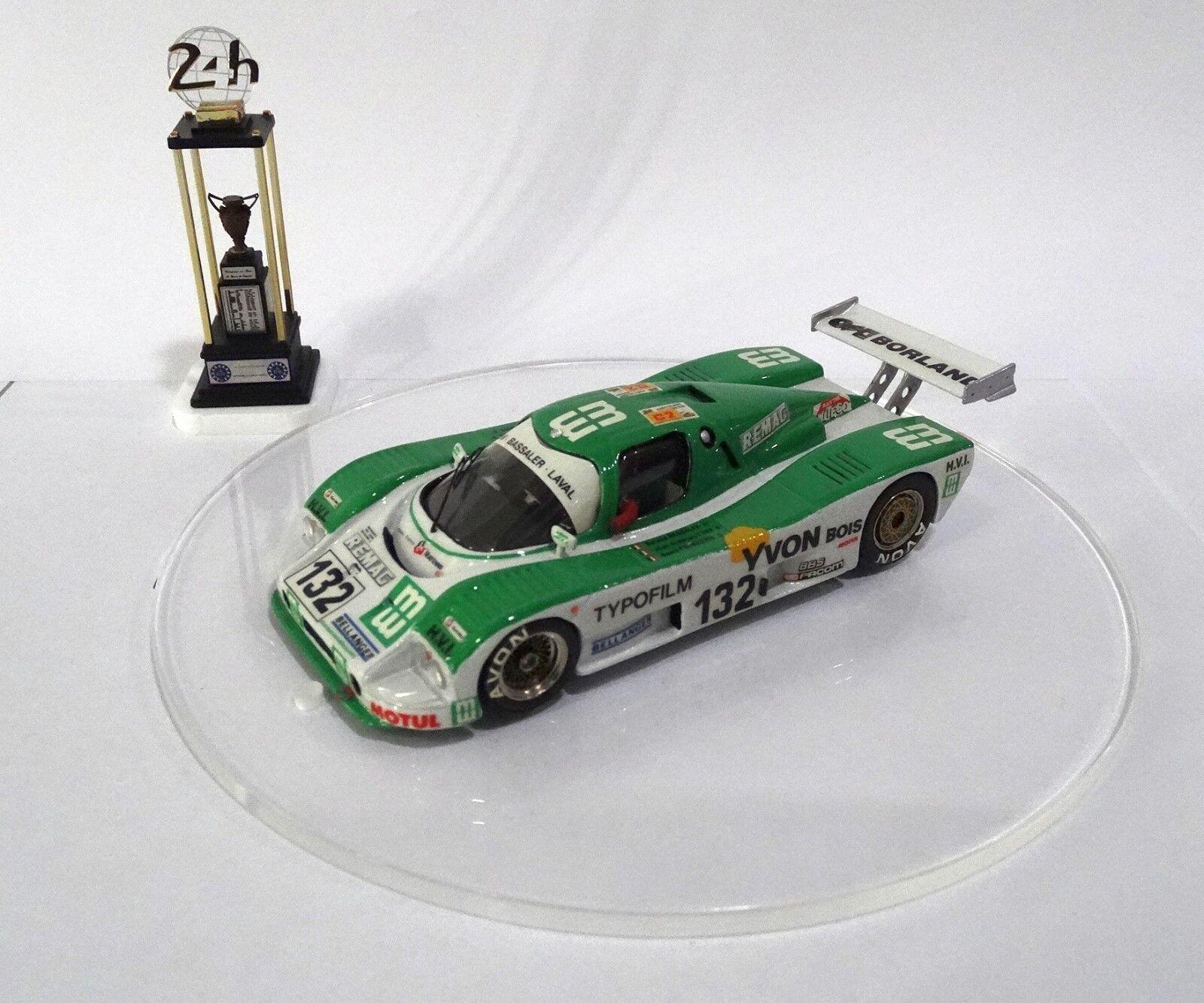 respuestas rápidas SAUBER C6 typofilm  132 Le Mans 24 H 1988 1988 1988 Built Monté Kit 1 43 no spark  tomamos a los clientes como nuestro dios