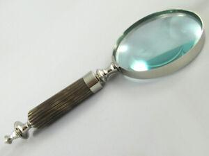 Dm 10cm /3 Nachfrage üBer Dem Angebot 2019 Neuestes Design Lupe Aus Glas Ca Griff Aus Bein 26cm Lang Metallteile Vernickelt