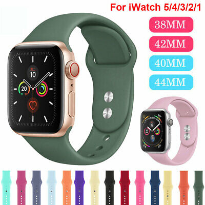 Sports Silicone Band For Apple Watch Series 5 4 3 2 1 Iwatch 38 42 40 44mm Strap Ebay