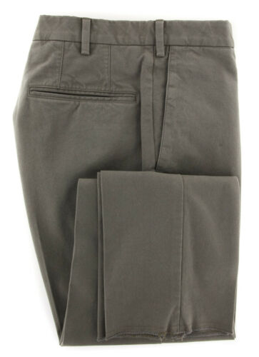 New $375 Incotex Gray Solid Pants IN1117177 Slim