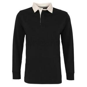Asquith-amp-Fox-Mens-Classic-Fit-Long-Sleeve-Vintage-Rugby-Shirt