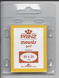 Package of 40 Prinz CLEAR Mounts 40 x 25