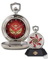 Franklin Mint Harley-davidson Combustion Custom Chrome Pocket Watch Coa