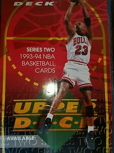 cheap for discount 57bfa 9a632 Image is loading MICHAEL-JORDAN-UPPER-DECK-DEALER-POSTER-RARE-LIMITED-